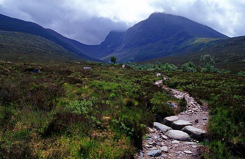 The Allt a' Mhuilinn path to the North face of Ben Nevis
