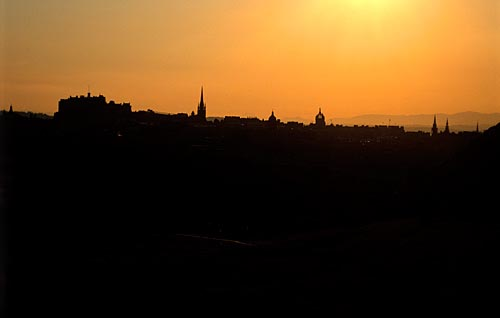 Edinburgh skyline from Salisbury Crags
